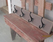 Distressed brown wood coat hanger