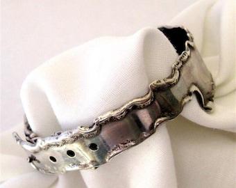 Handmade Bracelet - One of A Kind Sterling Silver Belt Bracelet - Ready to Ship