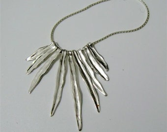 Fine Jewelry - Sterling Silver Wheat Leaves Necklace - Handmade Jewelry - Made to Order  By Amallias