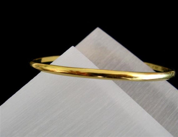 Fine Jewelry - 18K Solid Yellow Gold  Elegant Bangle Bracelet - Handmade Jewelry - Made to Order