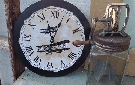Funky Clock | Country  Clock | Airplane Clock | Airplane | Small Clock | Bathroom Clock |