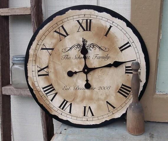 "Personalized Clock, 18"" x 18"""