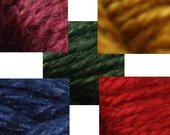plant dyed silk embroidery thread - jewel palette