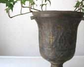 RESERVED FOR NATASHA - Ornate Vintage Brass Urn, Planter