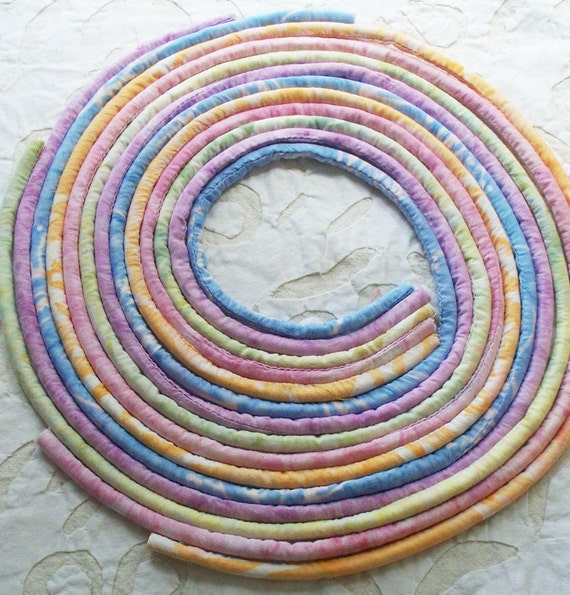 Designer handmade fabric covered necklace cords, jewelry supply, textile jewelry, fabric jewelry, pendant cords-A14