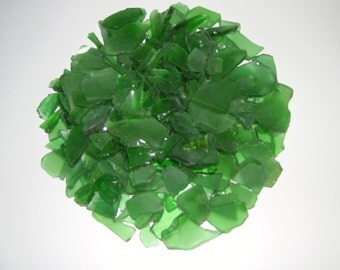 One Pound of Solid Color Green Beach/Sea Glass - Craft Ready - Wedding Decor - Wedding Beach Glass -  Spring Craft Beach Glass