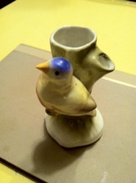 Vintage Blue Bird Vase