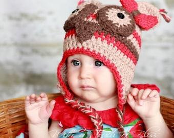 School Girl Owl Hat