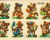 Vintage EagleTransfer - Silly Bears   No.155