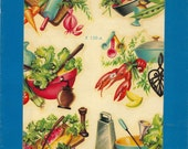Vintage Meyercord Transfer  Wonderful Kitchen Scenes  X 159-A