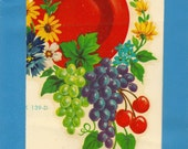 Vintage Meyercord Transfer Fruit and Flowers X 139-D