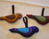 Handcrafted Rustic Felt Birds by Evergreen