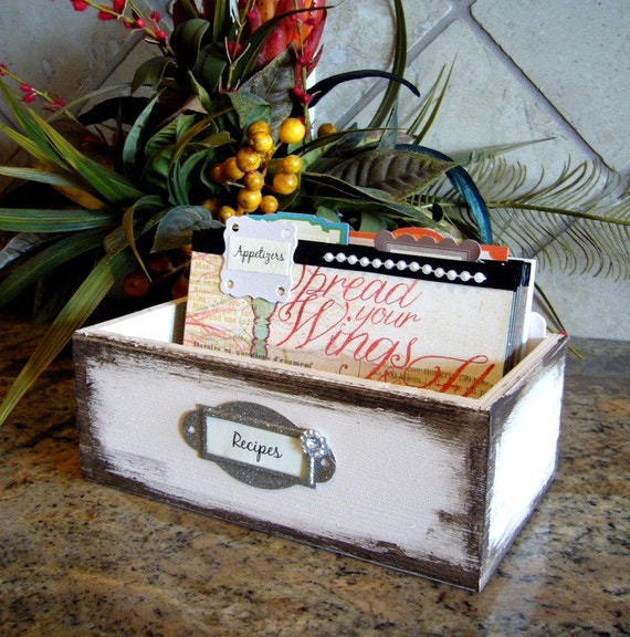 """Recipe Box and Dividers - """"Spread Your Wings"""""""