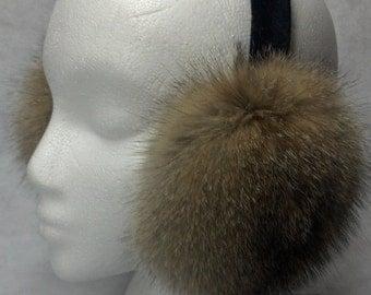 Kit Fox Fur Earmuffs new made in usa