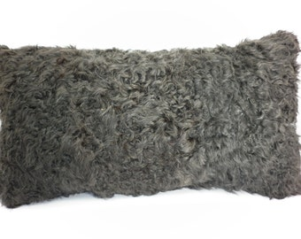 Brown Kalgan lamb pillow