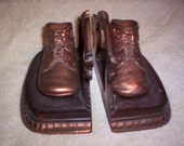 Bronzed Baby Shoes Bookends