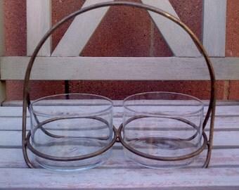 Vintage Glass Caddy