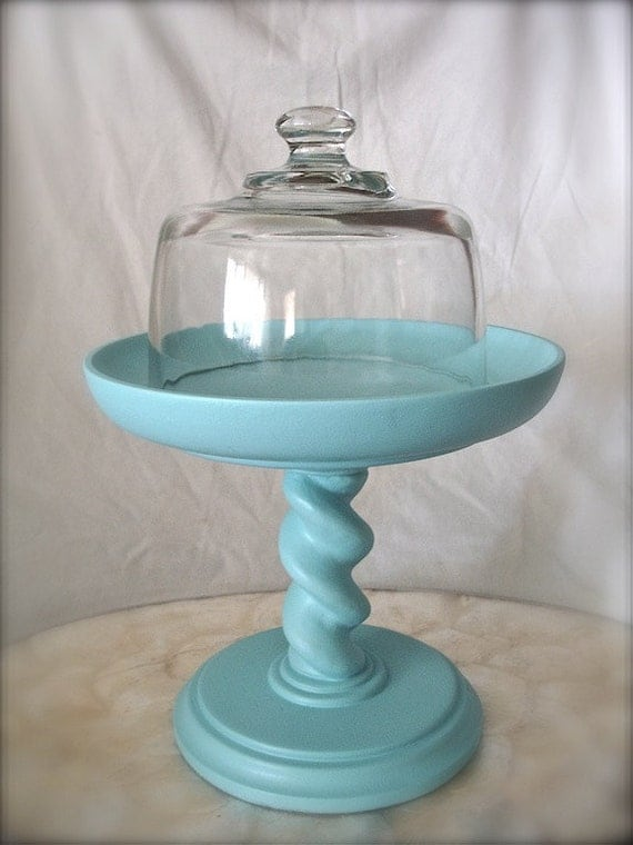 Petite Cake Stand And Cloche Cheese Plate Art By