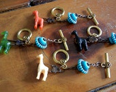 Rustic Giraffe Wine Glass Charms-Great Holiday Gift Idea-Set of 4-Ready to Ship