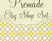 Premade Etsy Shop Set Banners Business Card Avatars and More 16-piece Collection - Honey Bee