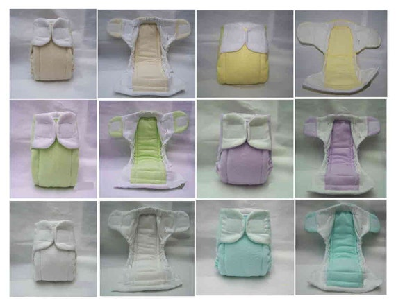 1- Angelbottoms II fitted cloth diaper/nappy--Preemie or Newborn--you choose size and color