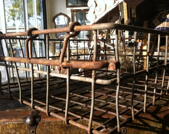 Industrial Vintage Steel Stacking Decorative and Functional Iron Baskets with Straight Up Dynamite Patina