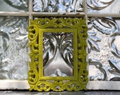 Decorative  Ornate Frame Painted Ivy Green Picture Frame 5 x 7