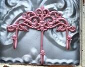 Wall Bath hook/ Shabby Chic Pink bath hook/ Anthropologie Inspired Hook/ Nursery decor hook/ Jewelry Hook Organizer