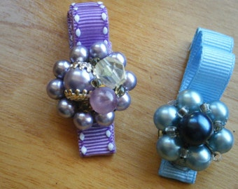 Vintage Jeweled Hair Clips
