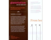 "Guesstation: ""Are We There Yet"" Belly Growth Chart"