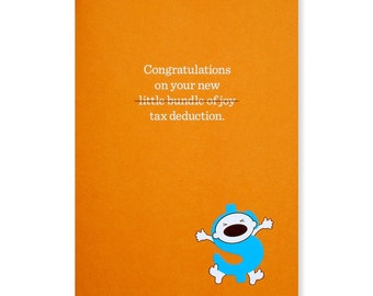 Congratulations on Your New Tax Deduction Greeting Card