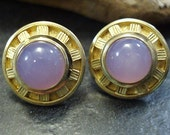 Holley Agate & 18k gold lavender sunburst post earrings