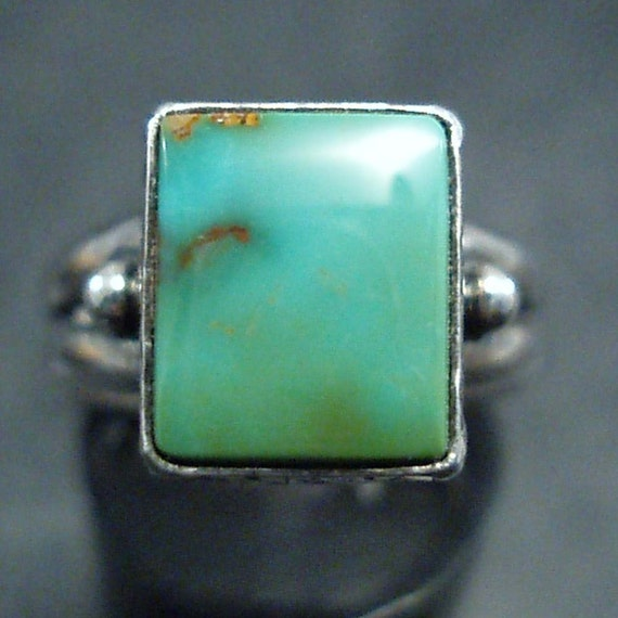 handcrafted sterling silver and Nevada turquoise ring