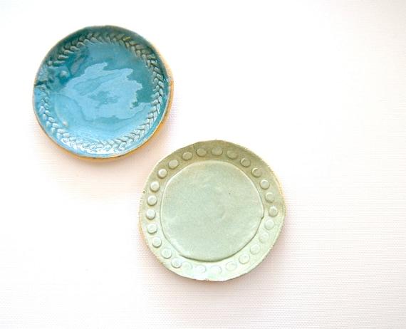 little bits Stoneware Mini Plates bird eggs