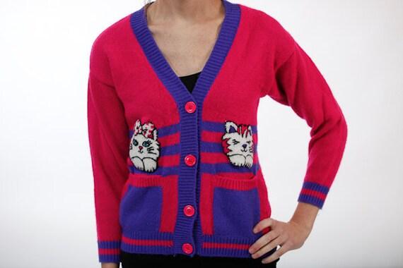 Vintage Adorable Kitten Sweater