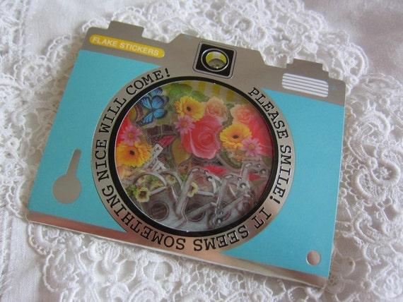 NEW 70small sticker flakes Garden