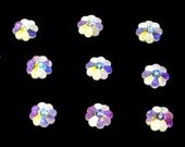 12pc - 6mm Swarovski Crystal AB Silver Foiled Margarita Flower Beads Spacers Style 3700