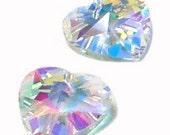 20mm Preciosa Crystal AB Heart Pendant Prism Drop Charm
