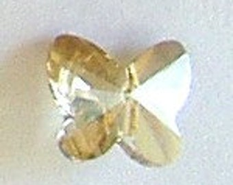 6pc - 5mm Swarovski Crystal Golden Shadow Butterfly Crystal Beads Spacers Style 5754
