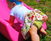 Lola Skirt for baby girl by Petite Kids Boutique - 0 to 24 months - Diaper cover and tiered skirt - Easy sew PDF pattern