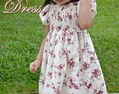 Petite Kids Boutique Maia Dress for Girls 12M-8Y PDF Pattern & Instruction-vintage style-shirred bodice -attached underskirt