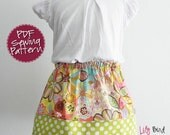 Cute and Simple 30 minutes Skirt - 6 to 12 Years - easy sew - perfect for beginners - PDF ebook with Instructions