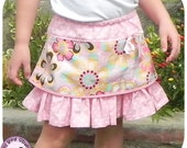 Gigi Skirt - 12 months to 8 years - PDF Sewing Pattern and Instructions - layered and ruffled skirt, elastic waist, easy sew, for beginners