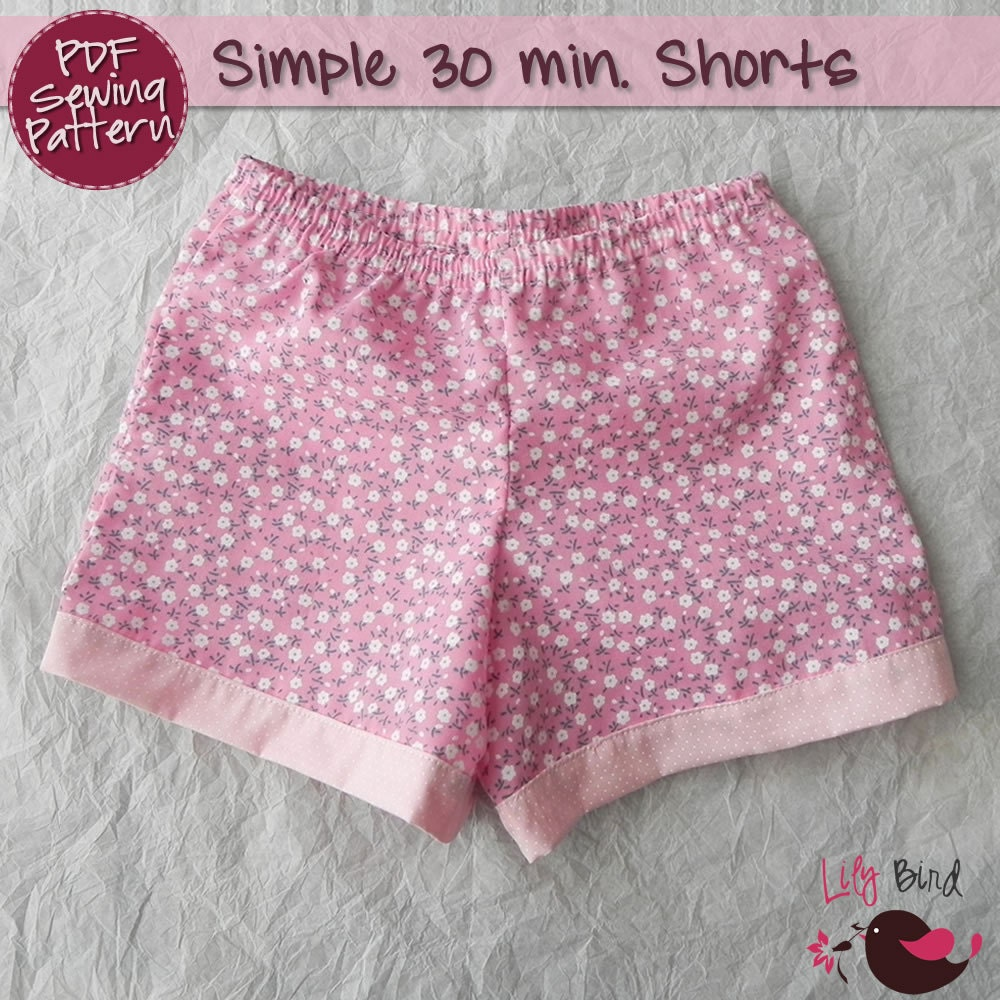 Simple 30 Minutes Shorts For Boy Girl Perfect Project For