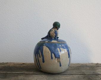 vintage Bird Jar
