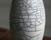 White Raku Crackle Vase - DISCOUNTED - Final Posting