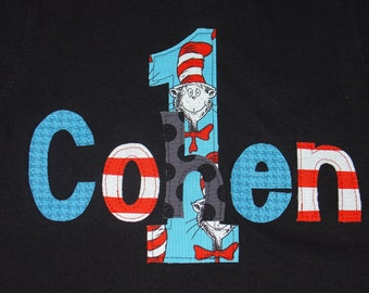 Personalized Birthday Shirt - Cat in the Hat, Dr Seuss
