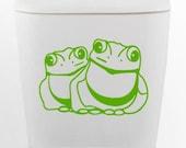 Bullfrog DECAL- size good for toilet Home Decor, Vinyl Wall Art, Shower, Bathroom, Interior Design