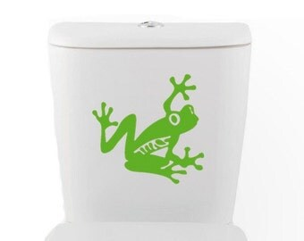 Tree Frog DECAL- Toilet wall sticker, Vinyl Art