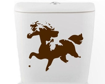 HORSE DECAL- Home Decor, toilet, Vinyl Wall Art, Shower, Bathroom, Interior Design